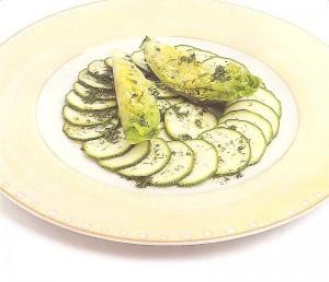 Receita de Salada de Couregete
